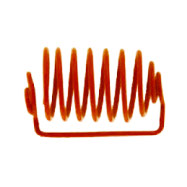 "Spiral Capsule Sinker, Orange Coated Music Wire, 1.10"" L x .41"" W capacity, 6.5 coils DLHCAPWHTLGMT"